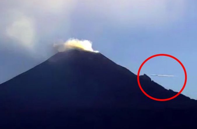 UFO-flying-over-active-volcano