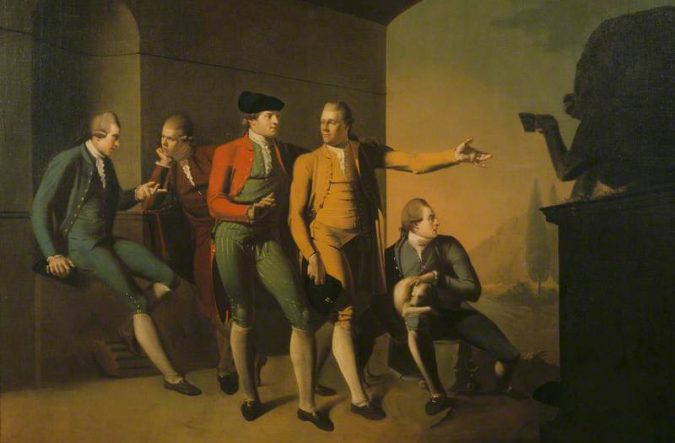 Brown, John, 1752-1787; A Grand Tour Group of Five Gentlemen in Rome